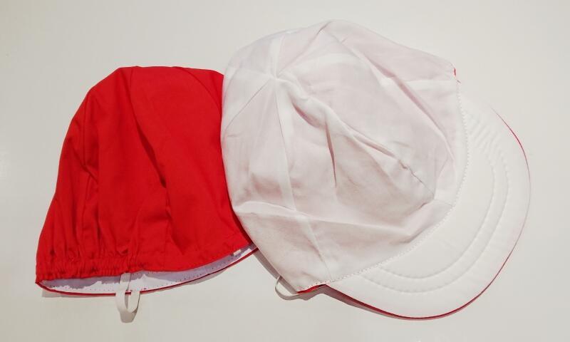 小学校の紅白帽