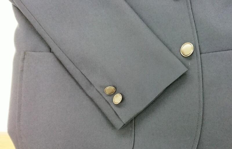 中学校,男子制服ブレザー袖